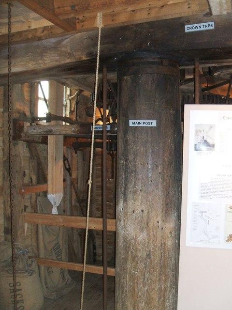 Main Post and Crown Tree at Cromer Mill
