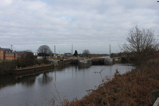 Latchford Locks from the South Bank...