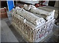 TA1063 : Tomb in St Martin's church, Burton Agnes by Derek Voller