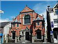 ST1599 : Combined public library and Baptist chapel, Bargoed by John Grayson