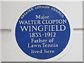 TQ2978 : Blue plaque re Major Walter Clopton Wingfield, 33 St. George's Square, SW1 by Mike Quinn