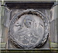 NJ9406 : Mercat Cross Panel: Charles I by Bill Harrison