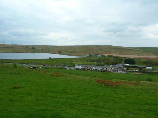 View towards Clowbridge Reservoir from Springfield House