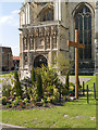 TR1557 : Easter Garden, Canterbury Cathedral by David Dixon