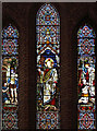 TQ7570 : St James, Upnor - Stained glass window by John Salmon