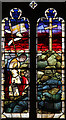 TQ8377 : All Saints, Allhallows - Stained glass window by John Salmon