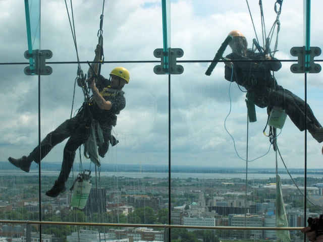 Extreme Window Cleaning, The Spinnaker Tower, Portsmouth