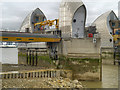 TQ4179 : Thames Barrier, Pier and Gate 9 by David Dixon