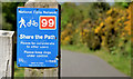 J3973 : National Cycle Network sign, Tullycarnet, Belfast by Albert Bridge