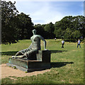 SE2812 : Henry Moore: Draped Seated Woman, 1957-58, Yorkshire Sculpture Park by Robin Stott