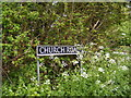 TM2998 : Church Road sign by Adrian Cable