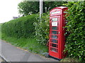 SY7894 : Tolpuddle: red telephone box by Chris Downer