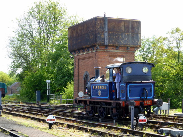 Railway Engine And Water Tower At 169 Paul Farmer Cc By