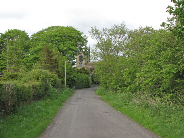 Church Lane, looking to St. Thomas' Church