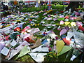 TQ4378 : Floral tributes to Drummer Lee Rigby near the Royal Artillery Barracks by Marathon