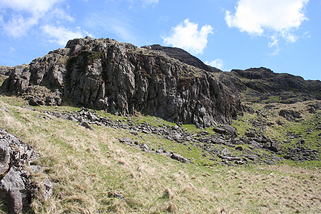 Crags below Hard Knott