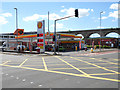 SE2834 : Shell Station and Kirkstall Viaduct by David Dixon