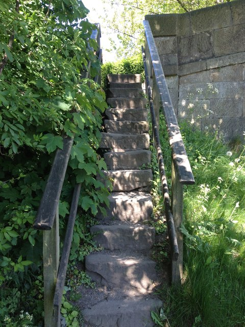 Steps up the side of Bridge 45, Lancaster Canal