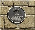 Photo of William Turner plaque