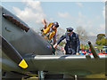 SD6342 : Chipping Steam Fair, Replica Spitfire by David Dixon