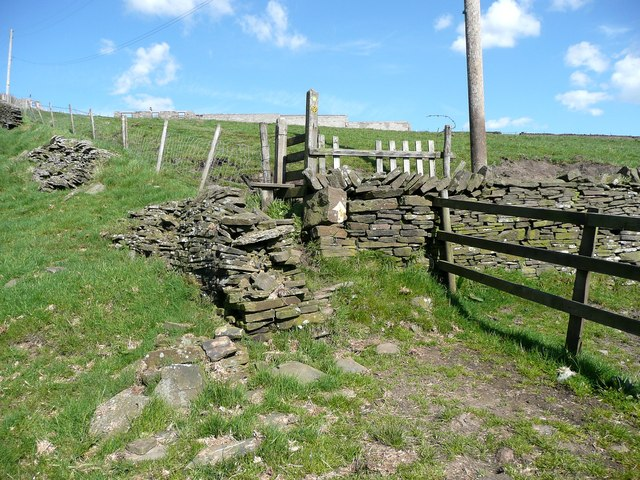 Stile on the Calderdale Way