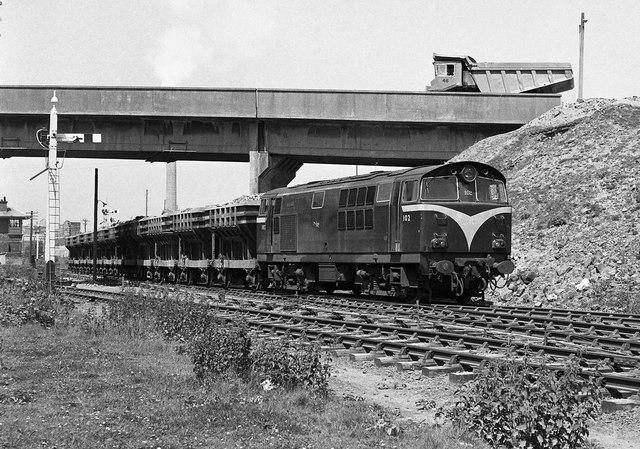 Spoil train at Magheramorne