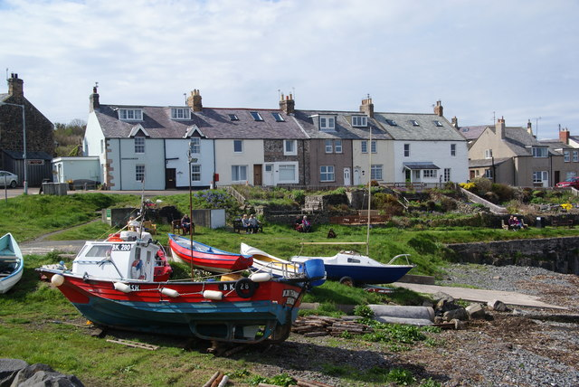 Boats in Craster harbour