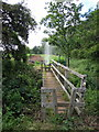 TL0036 : Bridge on the footpath towards the Woburn Road by Philip Jeffrey
