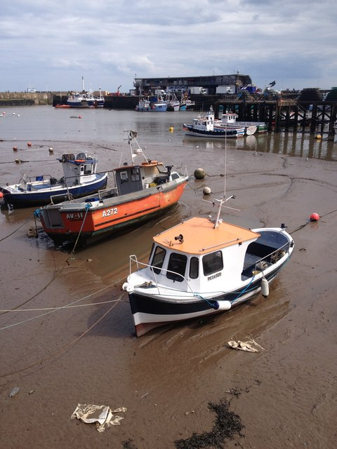 Boats in mud flats, Bridlington Harbour