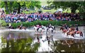 NT2440 : Riders crossing the Tweed, Peebles Beltane Festival 2013 (2) : Week 25