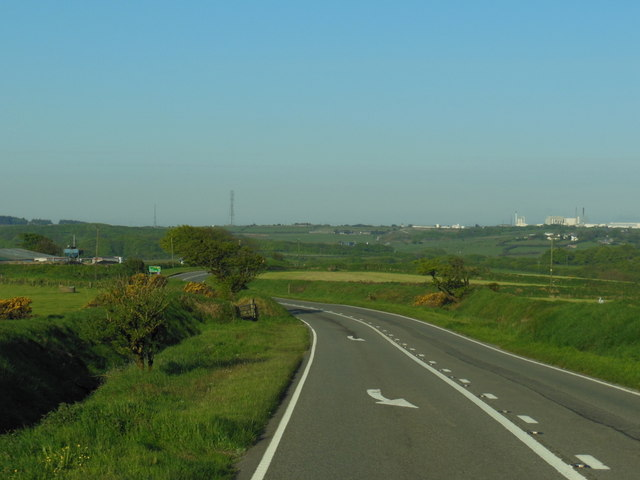 The A395 near Tresoke