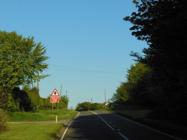 The A395  near Davidstow