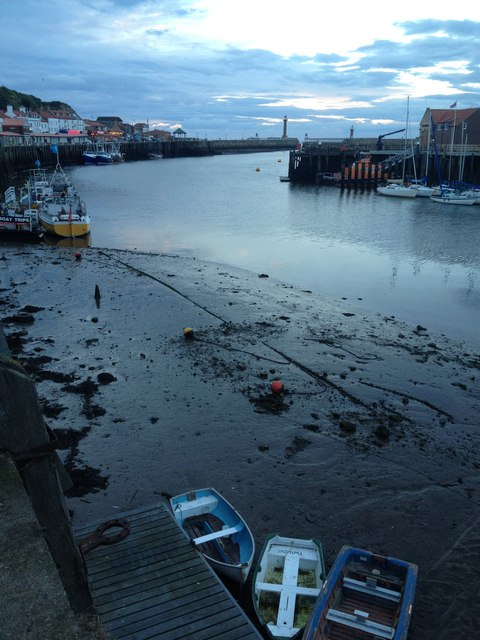 Boats at low tide, Whitby harbour