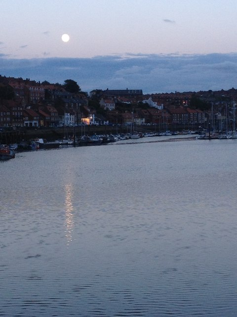 The Moon over the water, Whitby