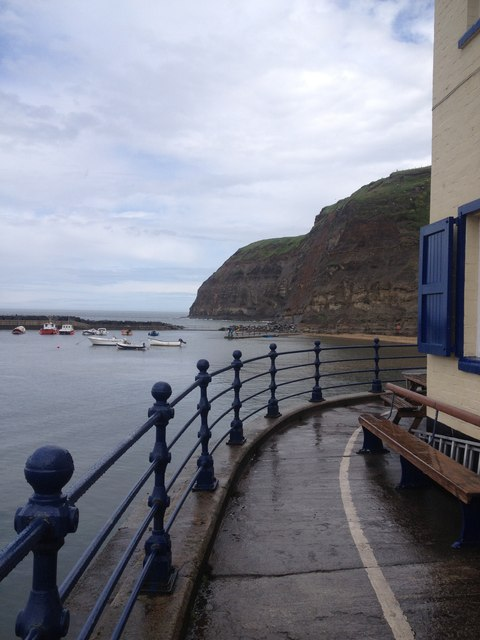 The side of the Cod and Lobster, Staithes