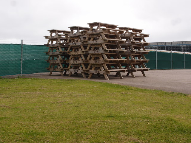 Picnic Tables Stacked At Becketts Corner
