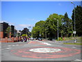 SO8898 : Roundabout at the top of Finchfield Hill, Finchfield by Richard Vince