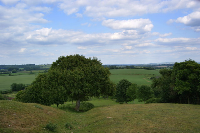 View from the top of Knole Hill