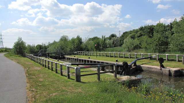 Lock 7 on the Millennium Ribble Link