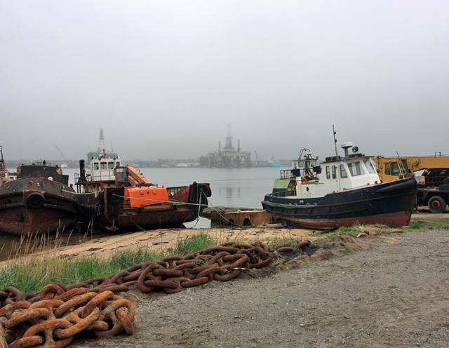 At Balblair Pier