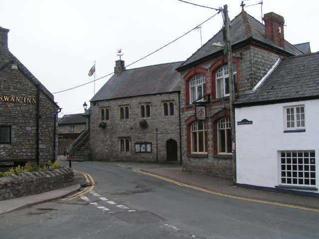 Buildings at the centre of Llantwit Major