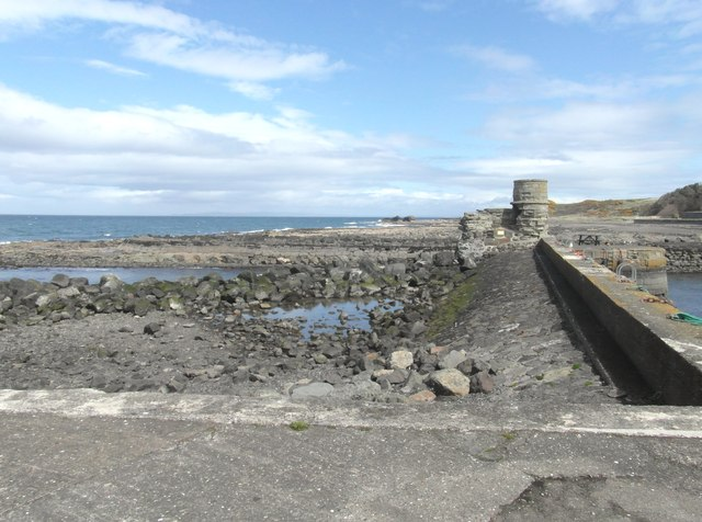 Outside Dunure harbour