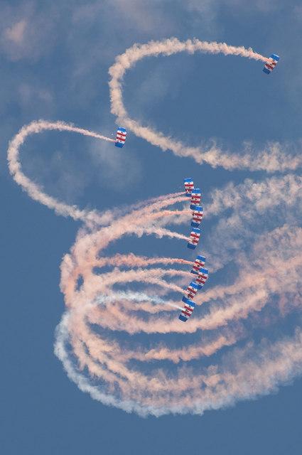 The Royal Air Force Falcons Display Team - St Athan