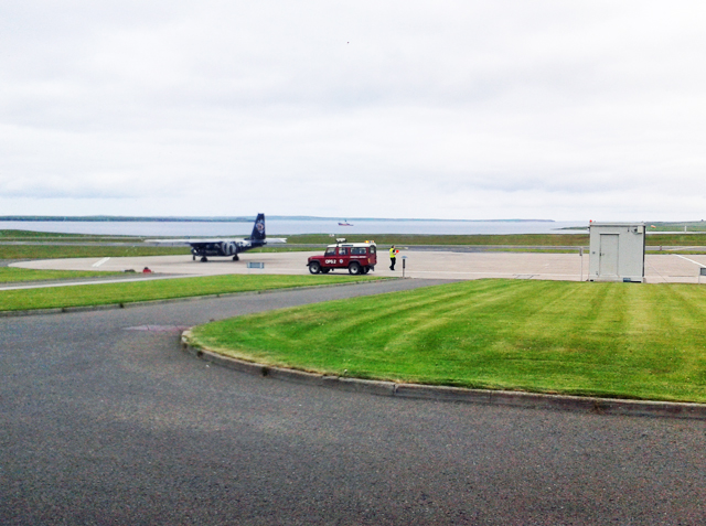 The apron, Kirkwall airport