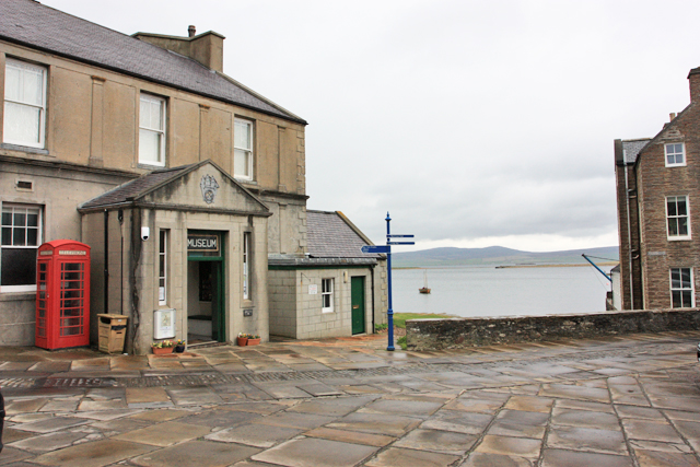 Stromness Museum and the view across the harbour