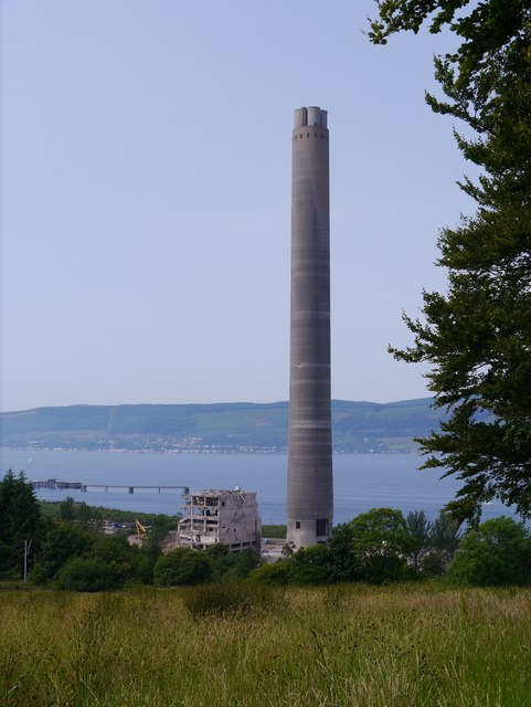 Demolition At Inverkip Power Station