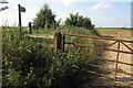 SP8224 : Footpath towards Mursley by Philip Jeffrey