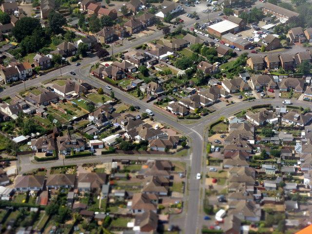 Caddington from the air