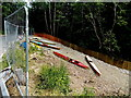 SO0943 : Kayaks at the top of a slipway, Erwood Bridge by Jaggery