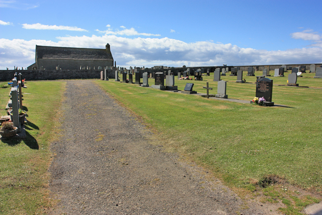 The cemetery at Kirkhouse Point